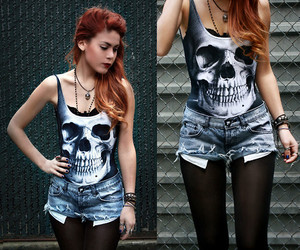 style, skull, and clothes image