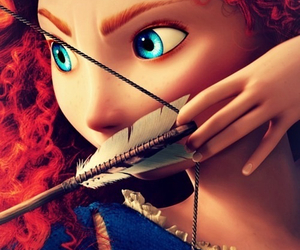 blueeyes, disney, and merida image