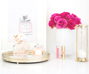 flowers, perfume, and pink image