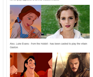 emma watson, beauty and the beast, and dan stevens image