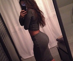 ass, mirror, and model image