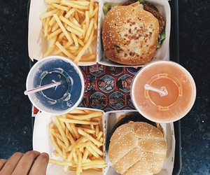 food, drink, and fries image