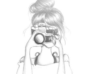 bow, girl, and camera image