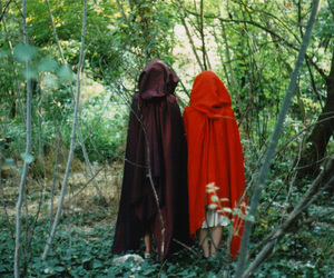 girls, Halloween, and red riding hood image