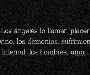 amor, frases, and infierno image