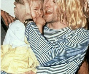 nirvana, frances bean cobain, and kurt cobain image
