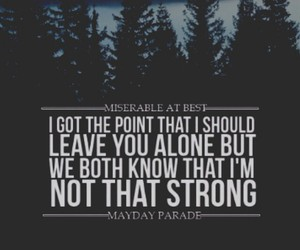 mayday parade, Lyrics, and miserable at best image