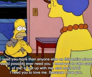 simpsons and love image