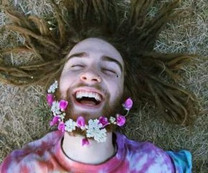 flowers, boy, and happy image