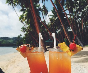 summer, drink, and beach image