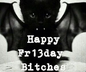 13, black cat, and friday image