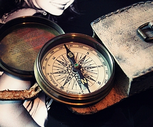 compass, vintage, and photography image
