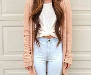 beauty, cardigan, and curls image
