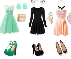 Braclets, dress, and rings image