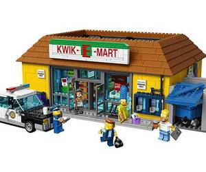 lego, the simpsons, and minifigures image