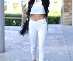 kylie jenner, white, and outfit image