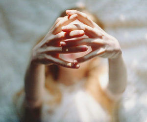 hands, girl, and light image