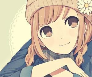 anime, flower, and girl image