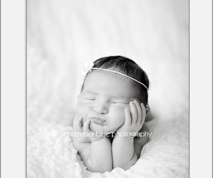 baby, headband, and bebe image