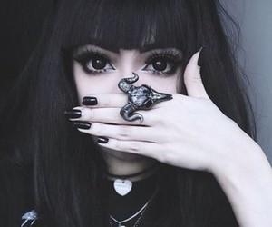 black, dark, and grunge image