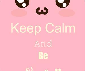 kawaii, keep calm, and nice image