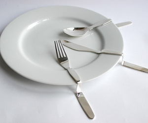 bent, cutlery, and Lazy image
