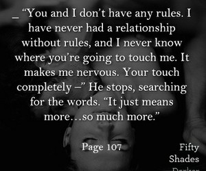 black and white, christian grey, and fifty shades of grey image