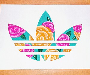 adidas, colourful, and draw image