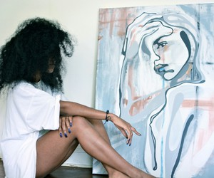 art, girl, and hair image