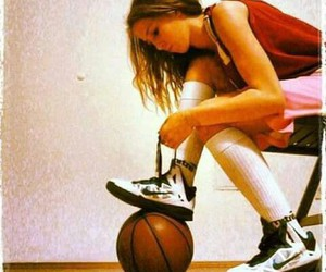 Basketball, girl, and basketball girl image