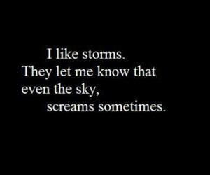 storm, scream, and quotes image