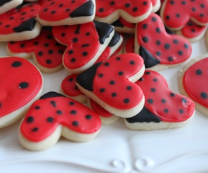cookie, ladybug, and red image