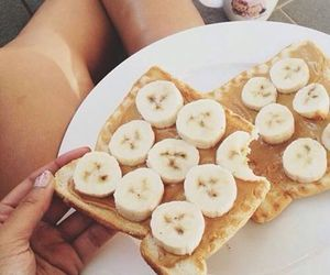 food, banana, and yummy image