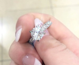 bague, diamant, and mariage image