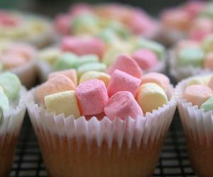 cupcake, marshmallow, and food image