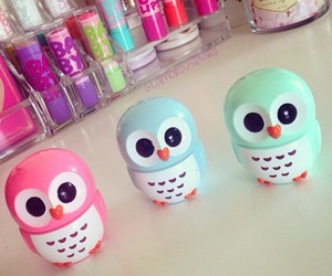 owl, baby lips, and eos image