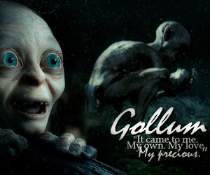 edit, lord of the rings, and gollum image
