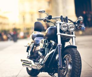 bokeh, moto, and motorcycle image