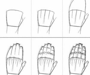 hand and drawing image