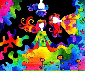colorful, flowers, and hippies image