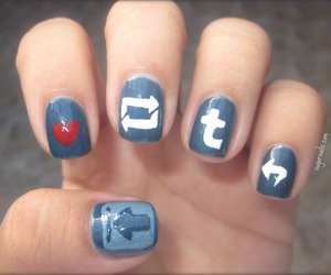 nails, tumblr, and blue image