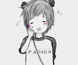 panda, anime, and kawaii image