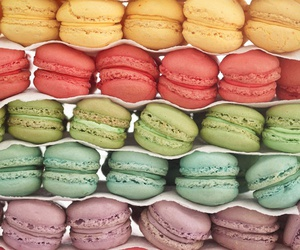 macaroons, colorful, and food image