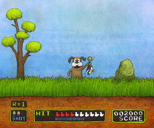 game, duck, and dog image