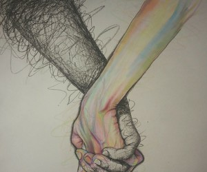 black, hand, and love image
