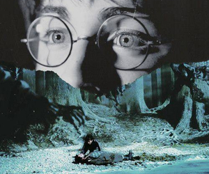 eyes, harry potter, and scar image