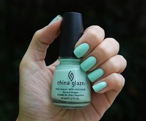 nails, nail polish, and blue image