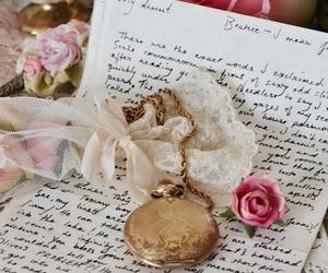 rose, vintage, and Letter image