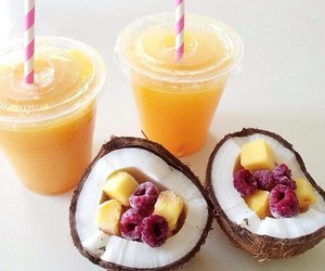coconut, food, and drink image