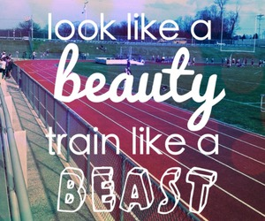 beauty, fitness, and beast image
